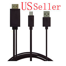 Micro USB 2.0 MHL To HDMI 1080P HDTV Adapter Cable For Samsung Galaxy Note 2 3 4