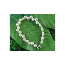 "Lot 8 6"" Bridal Bride White Elegant Genuine Freshwater Pearl Bracelets"