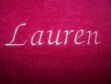 """PERSONALIZED EMBROIDERED JUST YOUR NAME  BATH/SWIMMING TOWEL"" 100% COTTON"