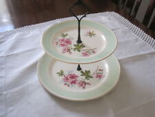 BEAUTIFUL VINTAGE ROYAL TUDOR WARE PINK AZALEA TWO TIER CAKE STAND