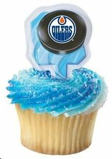 12 Edmonton Oilers Cupcake Picks - HOCKEY NHL Team Sports Ice Skate