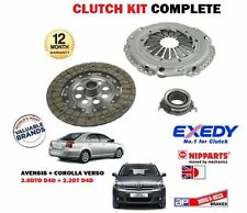 POUR TOYOTA AVENSIS COROLLA VERSO 2.0DT 2.2 D4D 6 SPEED 2006-2012 KIT EMBRAYAGE