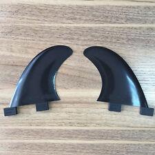 Surf Black Side Bite Fins (2) Glass Flex Surf Fin Set (FCS GL Style) Black