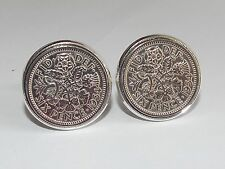 Mens 62nd Birthday Gift / Present / Anniversary 1954 Sixpence Coin Cufflinks New