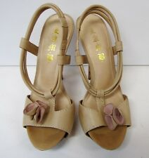 "L.A.M.B. by Gwen Stefani Sling Back 5.5"" Platform Open Toe Shoe Size 10M,Leather"