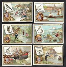 Fishing & Angling Liebig Cards Set 1899 Herring Boat Shrimp Net Crayfish Salmon