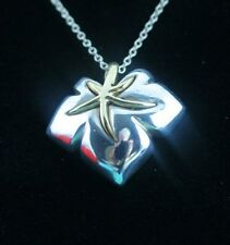 Tiffany & Co. Silver 18K Gold Ivy Starfish Necklace and Pendant 16in.