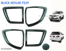 Back Tail Lamp Light Black Kevlar Cover For Toyota Fortuner Suv 4x2 2012-2015
