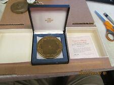 Franklin Mint 1974 Calendar / Art Medal   3800 grains of Solid Bronze  COA  Box