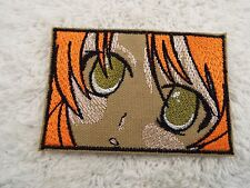 """Olive Green ANIME EYES 4"""" Embroidery Iron-on Applique Patch (E6)"""
