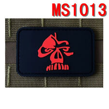 Militaria Black Rubber Big Teeth Weird Patch Badge Velcro Patches Wholesale Lots
