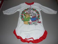 Vintage 80's Pound Puppies Girls Nightgown