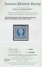 "US Sc# 126 *MINT OG H* (( W/ A.P.S CERT )) BEAUTY SCARCE ""NO GRILL 1875 REISSUE"