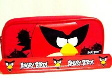 Rovio Angry Birds Pencil Pouch /Pencil Case (Red) and Slap Bracelet Combo-New!