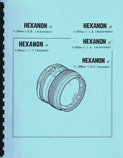 Konica Hexanon AR Lens Parts List & Exploded Views: 24mm, 135mm, 50mm, 57mm