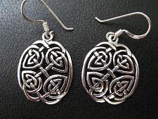 Keltische Knoten 925'er Silber Ohrringe Ohrhänger Paar      / KA 759 o