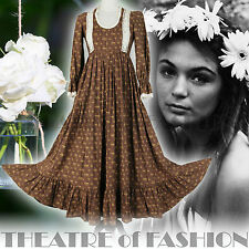 VINTAGE LAURA ASHLEY DRESS 70s UK 6 8 10 INDIAN 60s WEDDING BOHO VICTORIAN WALES