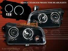 2006-2008 DODGE CHARGER TWIN HALO LED BLACK PROJECTOR HEADLIGHTS