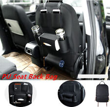 Multifunction Car Seat Back Bag Organizer Storage Cup Pad Phone Holder PU Pocket