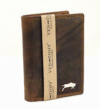 Brand-new Natural Buffalo Bifold Wallet Genuine Leather Antique-Look