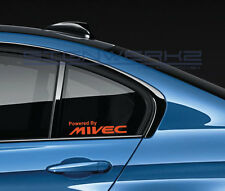 Powered By Mivec Decal Sticker logo Evolution Lancer Mitsubishi FTO Pair