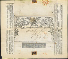 1840 1d a65 STEREO Mulready superba WAFER Seal London uso locale CAT. £ 475.00