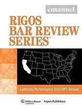 Ca Performance Test Review (Emanuel Rigos Bar Review) by Rigos, James J.