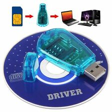 BLUE COLOR SIM Card Reader - USB, GSM & CDMA Compatible + CD