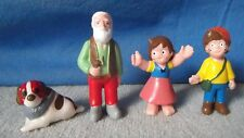 Heidi 4 figuras nuevo set + DISPLAY cartón heimo OVP tray vintage 70s Girl of Alps