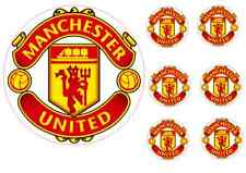 Manchester United 17cm Cake Topper con 6 5cm decorazioni per cupcake wafer carta