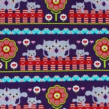 Lillestoff Candy Cat 95% Organic Cotton Jersey 5% Spandex Per Metre
