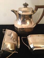 Antique art deco solid silver tea set par thomas bradbury & sons sheffield 1933