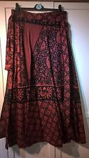 Fairtrade Indian Cotton Wrap Skirt Red