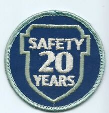 Greyhound Bus, driver patch, 20 Safety Years. 3 inch diameter