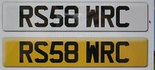 RS58 WRC Cherished Registration number  Ford Focus RS ST Audi RS Fiesta ST