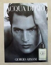 B093-Advertising Pubblicità-1999 - ACQUA DI GIO - GIORGIO ARMANI - PROFUMO