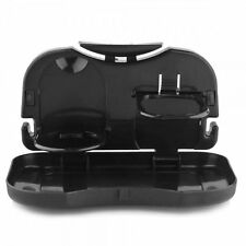 Keimav Folding Car Tray and Cup Holder (Black)  set of 2