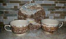 6 Johnson Bros Olde English Countryside  Bread & Butter Dessert Plates  &  2cups