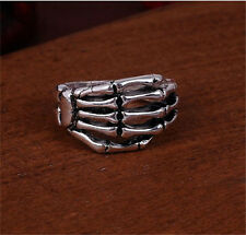 Men's Woman 316L Stainless Steel Vogue Design Monster Aliens Hand Ring Size 10