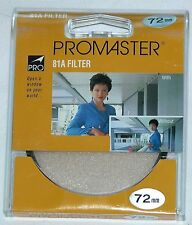 Pro 72mm 81A Lens Filter B&W Color Film Digital Warm Up promaster 72 mm Circular
