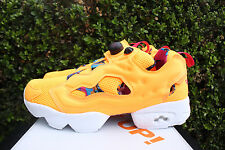 REEBOK INSTAPUMP FURY AR SZ 10.5 ARCHIVE REVIVAL FIRE SPARK YELLOW WHITE BD1507