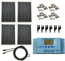 400 Watt 400W Solar Panel Kit w/ LCD Charge Controller 12/24V RV Boat Off Grid