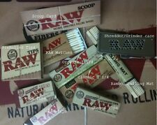 ALL RAW ROLLING BUNDLE, Papers, Tips, Roller, Shredder Case, Scoop Card, Matches
