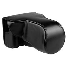 New Black PU Leather Camera Case Cover Bag Pouch for Canon EOS-M3 with Strap