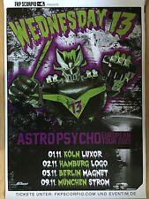 WEDNESDAY 13 TOUR 2015  - orig.Concert Poster -- Konzert Plakat  A1 NEU