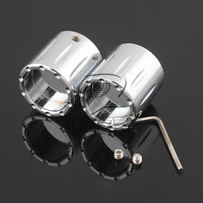 Chrome Deep Edge Cut Front Axle Cover Cap Nut For Harley CVO Road Glide Softail
