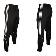 Stripe Mens Soccer Football Training Sweat Pants Athletic Skinny sport Trousers