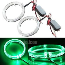 """2pcs Green 3.0"""" LED Guide Angel Eyes Halo Rings For Cars HID Headlights Retrofit"""