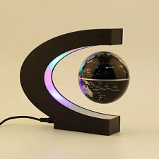 Magnetic Light Levitation Floating Globe LED World Map C Shape Night Table Lamp