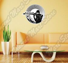 Biathlon Cross-Country Ski Race Rifle Gun Wall Sticker Room Interior Decor 22""